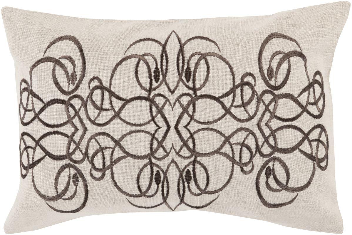 Surya LU-005 Lumbar Indoor Decorative Pillow with Down or Polyester
