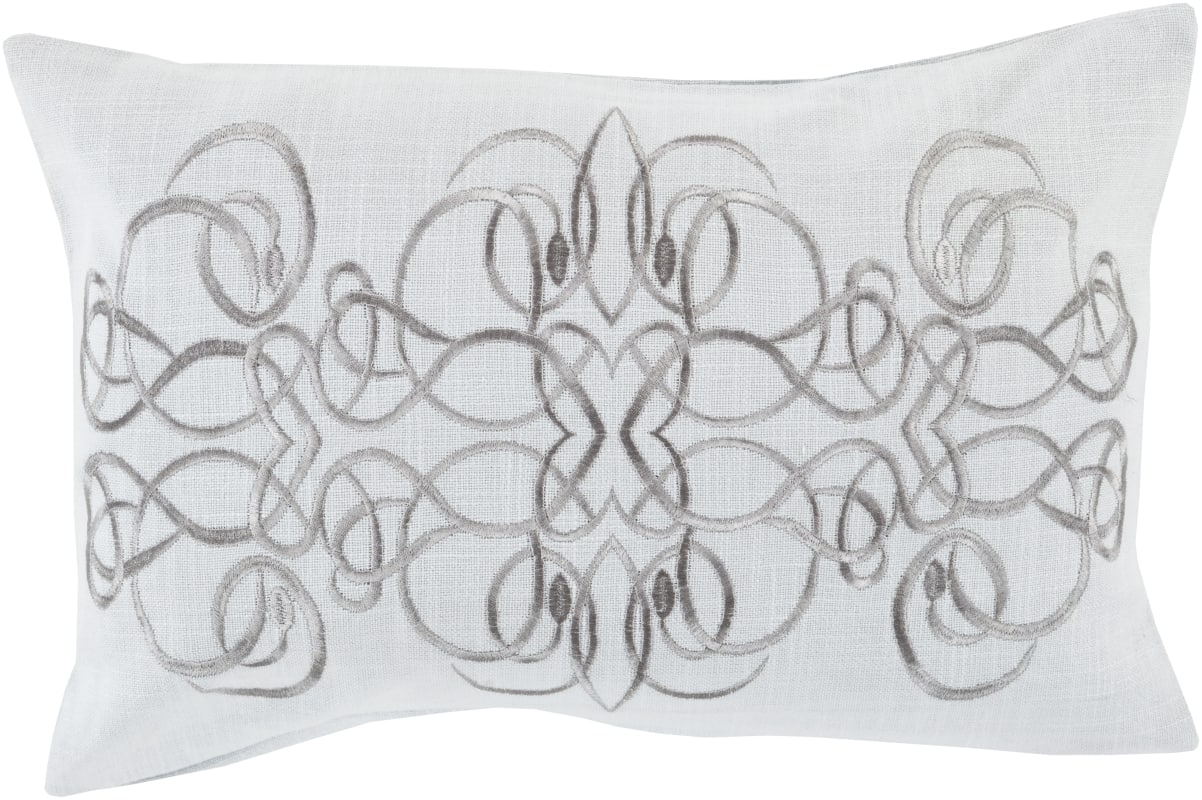 Surya LU-007 Lumbar Indoor Decorative Pillow with Down or Polyester
