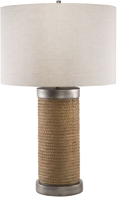 Surya OWLP-001 Owen 1 Light Table Lamp Brown Lamps Accent Lamps