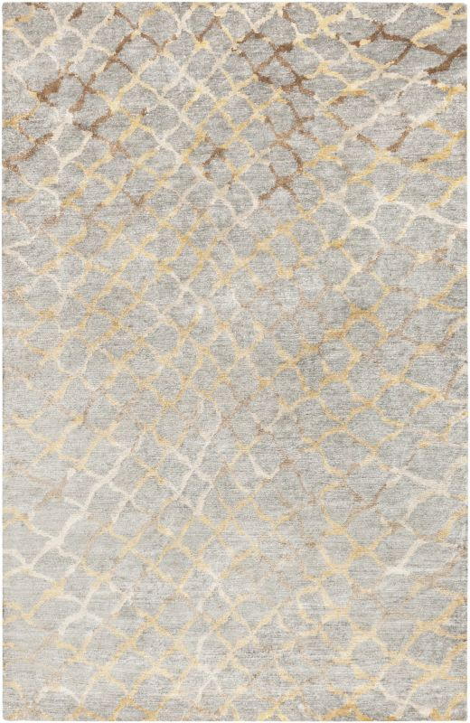 Surya PLAT9018 Platinum Hand Knotted 100% Viscose Rug 9 x 13 Rectangle