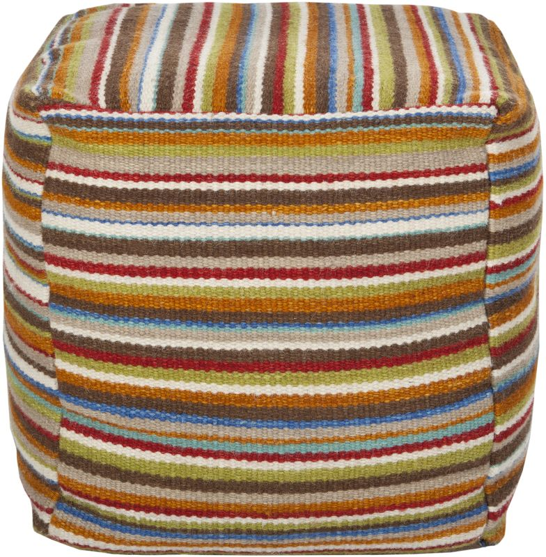 Surya POUF-149 Indoor Pouf from the Surya Poufs collection Burnt