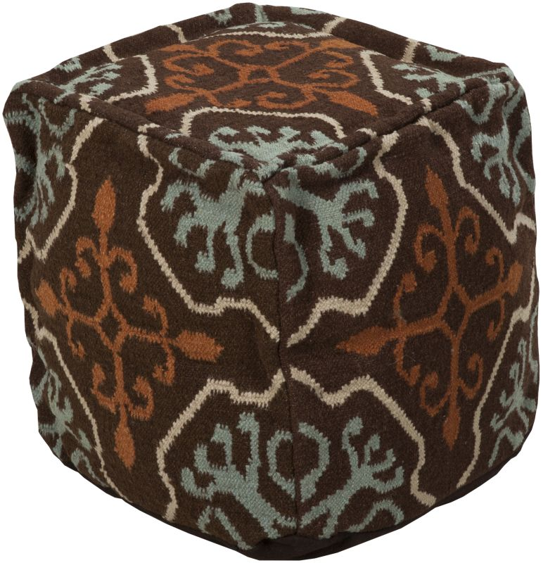 Surya POUF-18 Indoor Pouf from the Surya Poufs collection Chocolate