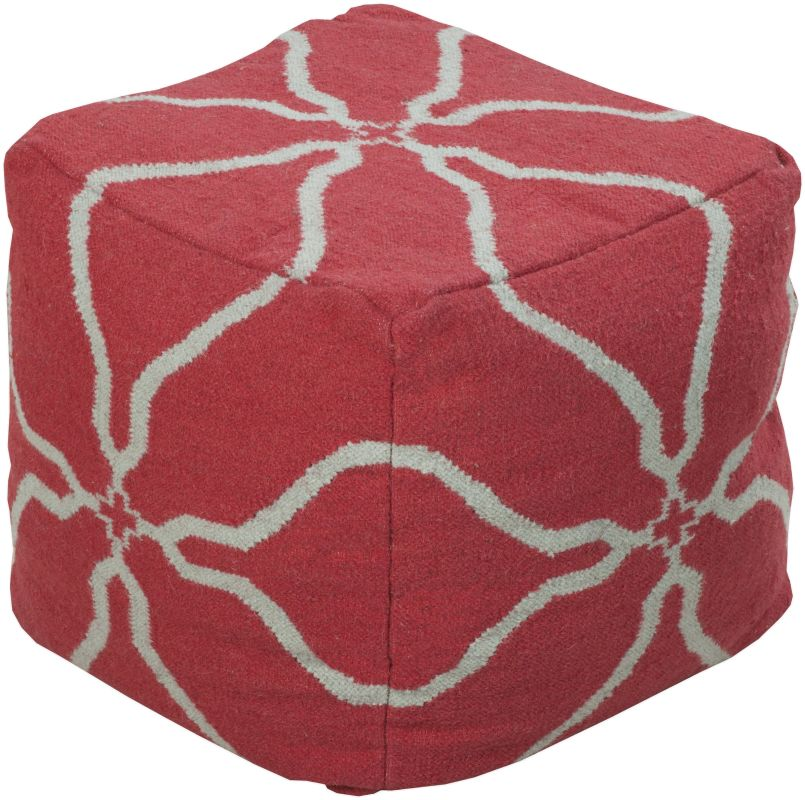 Surya POUF-228 Indoor Pouf from the Surya Poufs collection Hot Pink