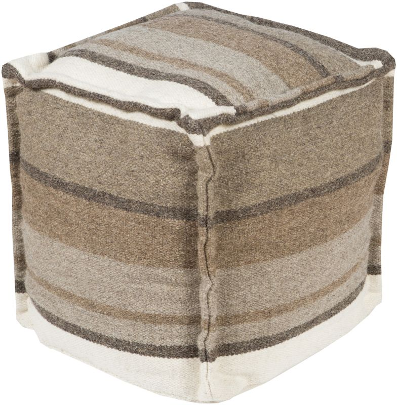 Surya POUF-99 Indoor Pouf from the Surya Poufs collection Gray Home