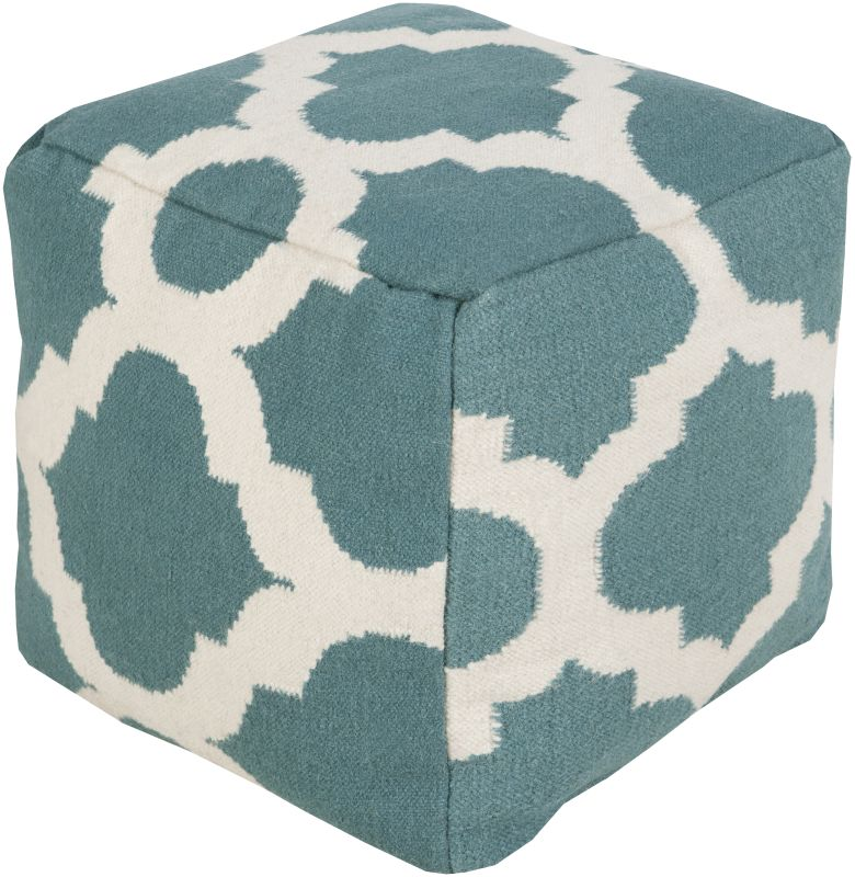 Surya POUF-153 Indoor Pouf from the Surya Poufs collection 18 x 18
