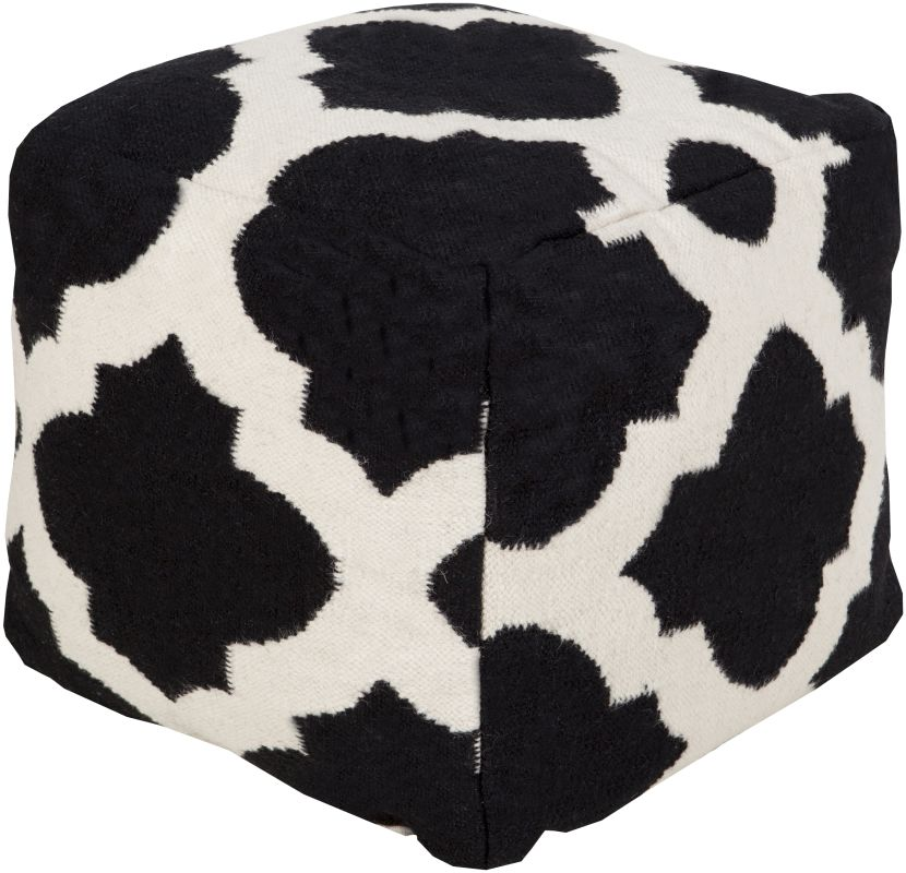 Surya POUF-154 Indoor Pouf from the Surya Poufs collection 18 x 18