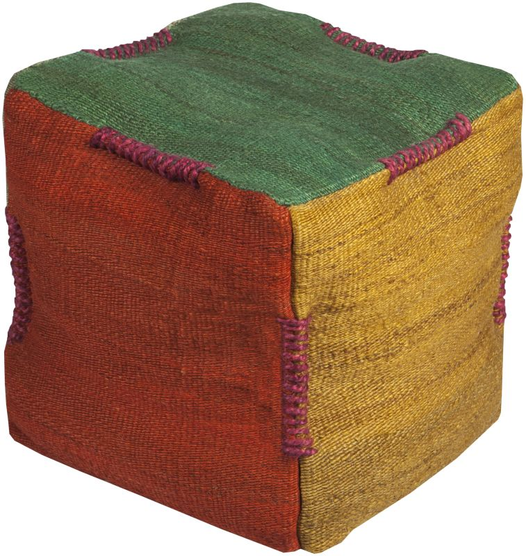 Surya POUF-313 Indoor Pouf from the Surya Poufs collection Emerald /