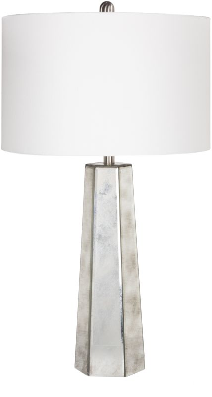 Surya PRLP Perry 1 Light Table Lamp Silver Lamps Accent Lamps