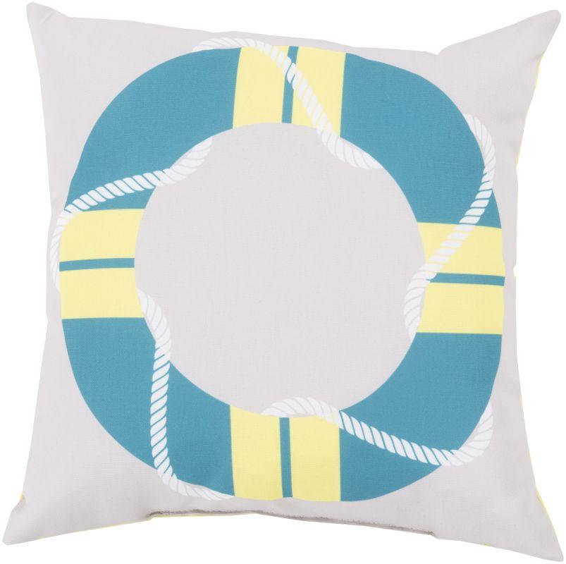 Surya RG-081 Rain Indoor / Outdoor Pillow 18 x 18 Home Decor Pillows