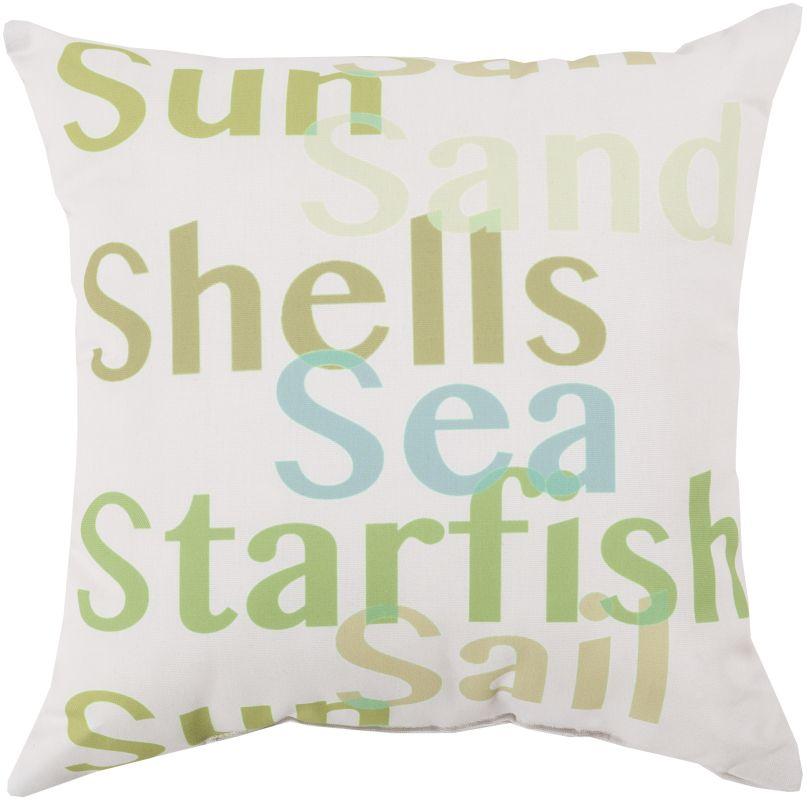 Surya RG-091 Rain Indoor / Outdoor Pillow 18 x 18 Home Decor Pillows