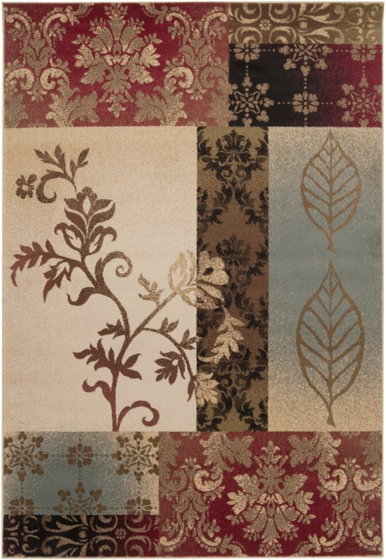 Surya RLY5014 Riley Power Loomed 100% Polypropylene Rug 4 x 5 1/2