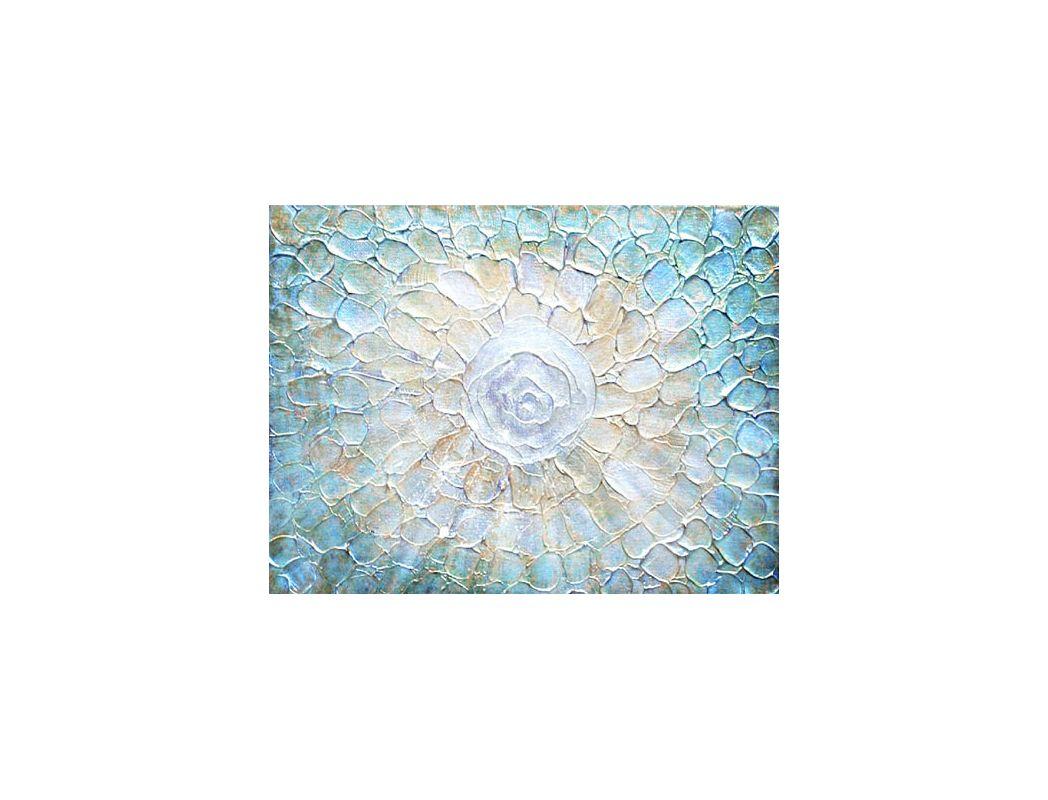 "Surya RWL3024 36"" x 48"" Aquatic Hand Embellished Giclee Print Blue"