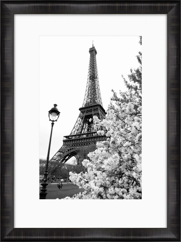 "Surya RWL3096 30"" x 40"" Paris Hand Embellished Giclee Print Black Home"