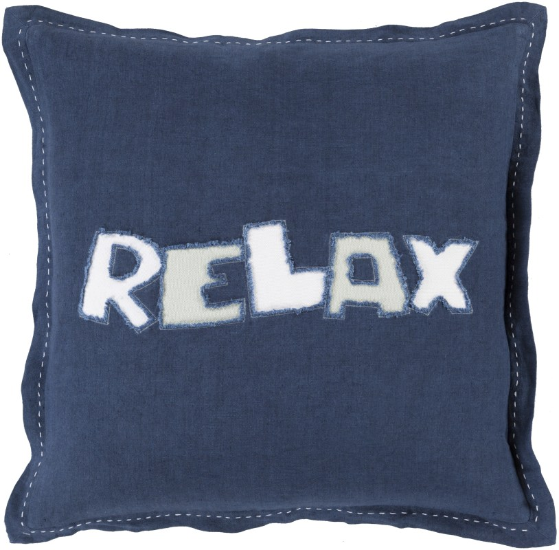 Surya RX-001 Square Indoor Decorative Pillow with Down or Polyester