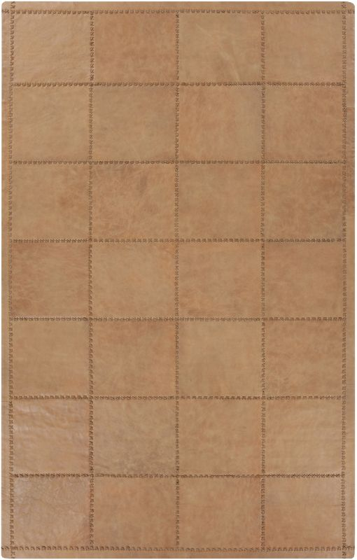 Surya SAD6001 Saddle Hand Loomed 100% Leather Rug 2 x 3 Rectangle Home