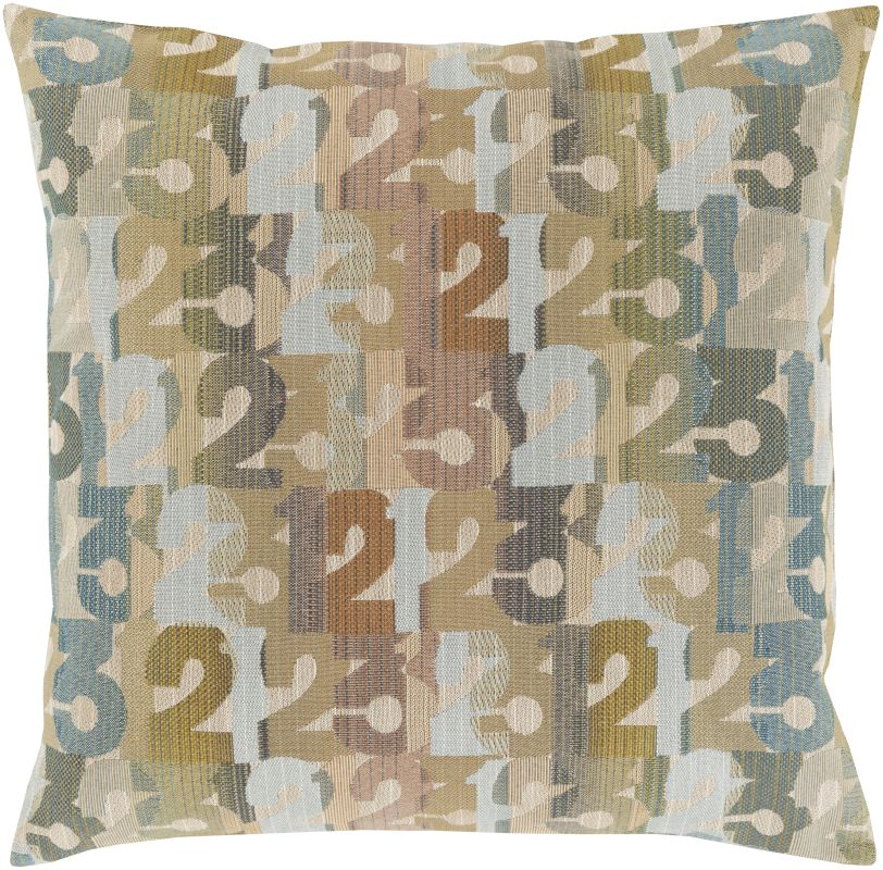Surya SHP-002 Square Indoor Decorative Pillow with Down or Polyester
