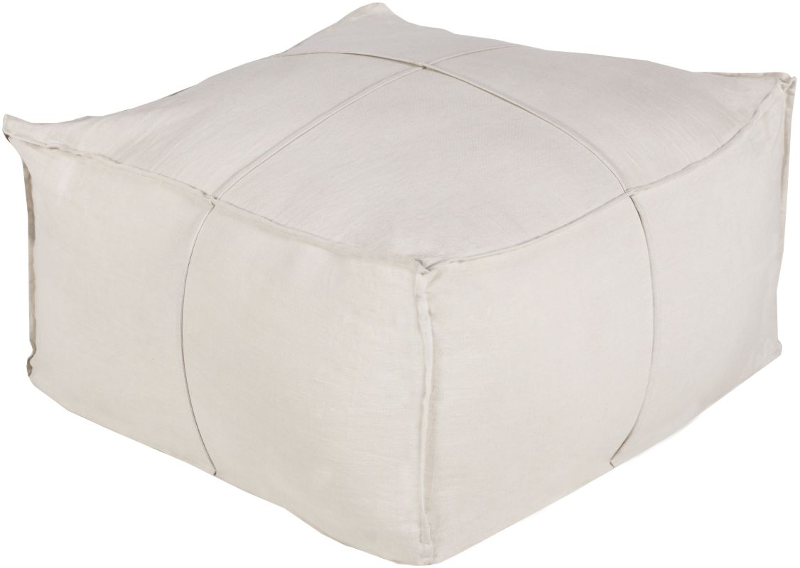 Surya SLPH-001 Indoor Pouf from the Solid Linen collection Gold Home