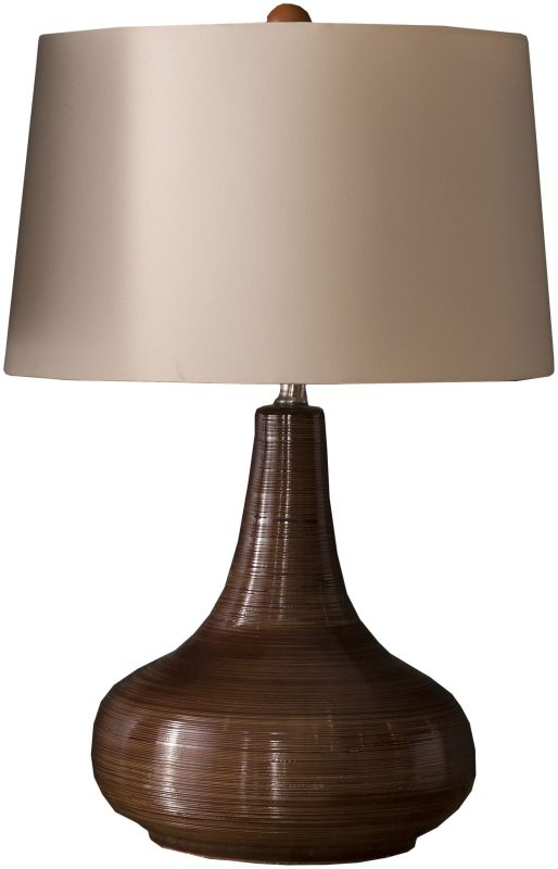 Surya STL-3001 Sicily 1 Light Table Lamp Brown Lamps Accent Lamps