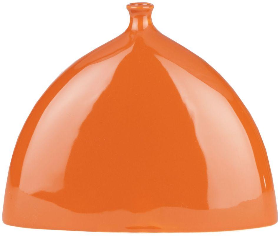 Surya TAV830 Ceramic Vase from the NATURAL Collection Medium Orange