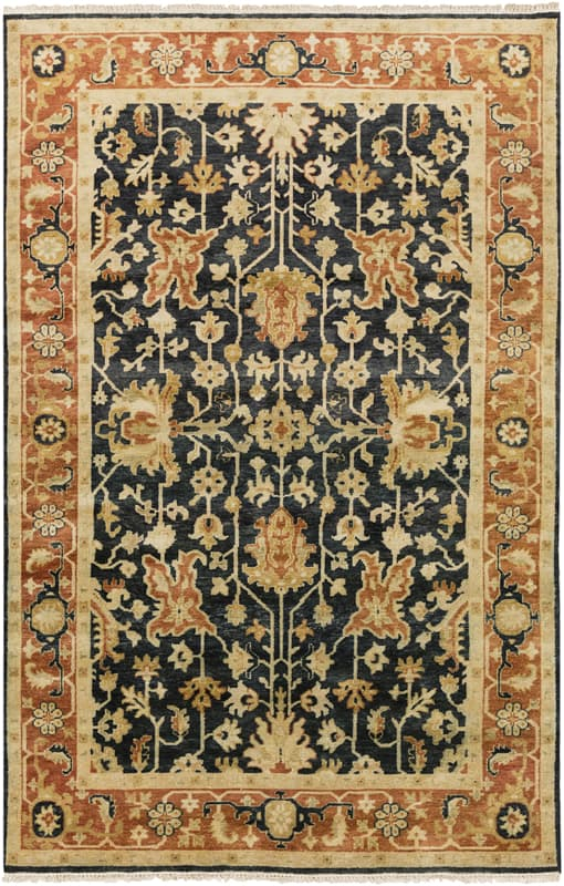 Surya TJ6599 Taj Mahal Hand Knotted 100% Semi-Worsted New Zealand Wool Sale $5891.40 ITEM: bci2717077 ID#:TJ6599-86116 UPC: 888473061212 :