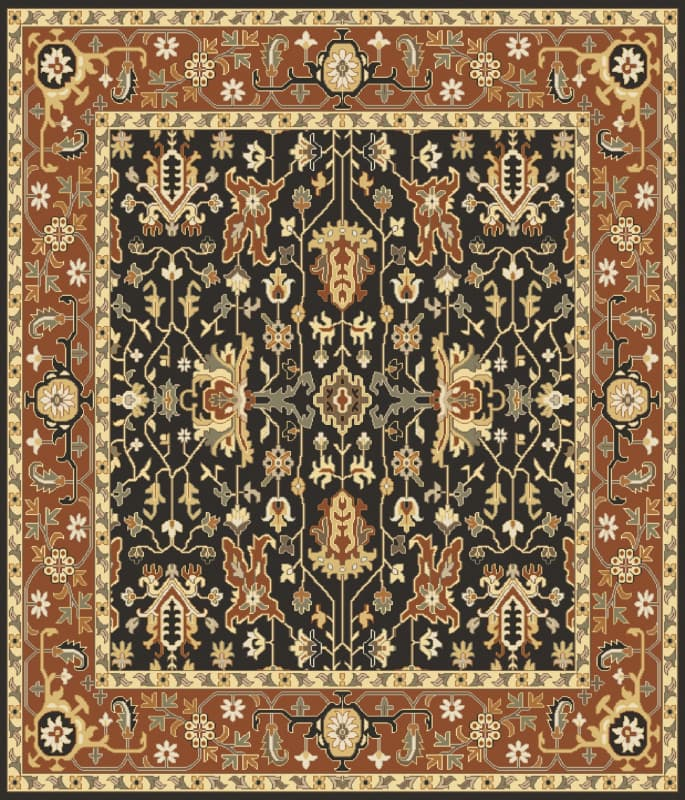 Surya TJ6599 Taj Mahal Hand Knotted 100% Semi-Worsted New Zealand Wool Sale $4243.20 ITEM: bci2717079 ID#:TJ6599-8SQ UPC: 888473061236 :