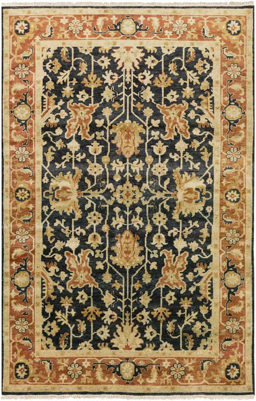 Surya TJ6599 Taj Mahal Hand Knotted 100% Semi-Worsted New Zealand Wool