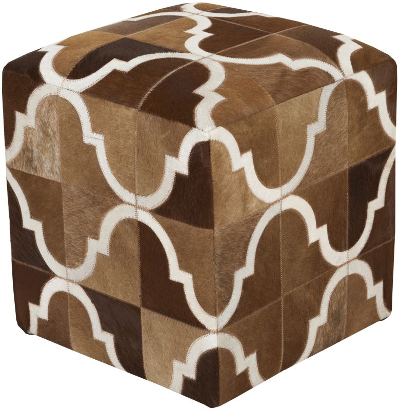 Surya TLPF-002 Indoor Pouf from the Trail collection Mocha Home Decor