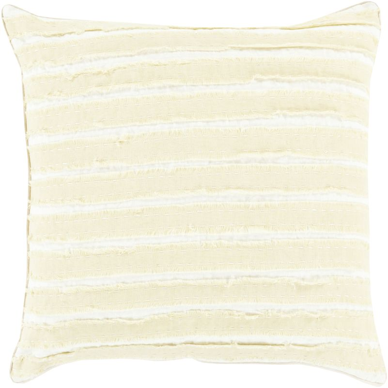 Surya WO-001 Square Indoor Decorative Pillow with Down or Polyester