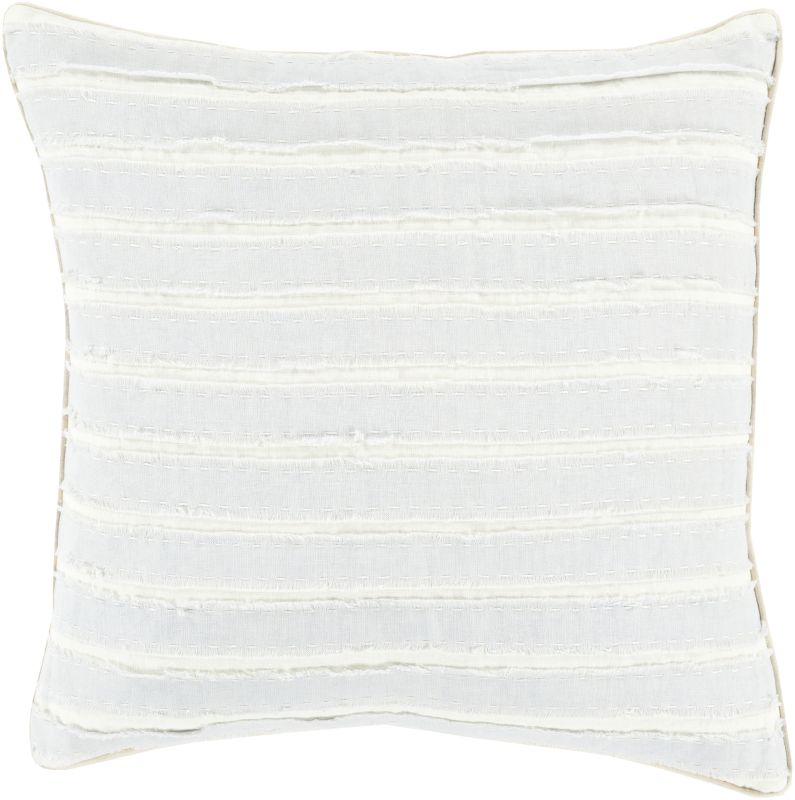 Surya WO-003 Square Indoor Decorative Pillow with Down or Polyester