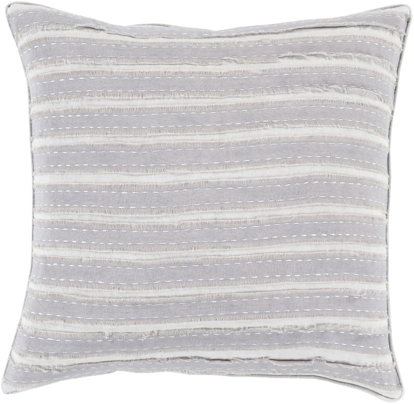 Surya WO-004 Square Indoor Decorative Pillow with Down or Polyester