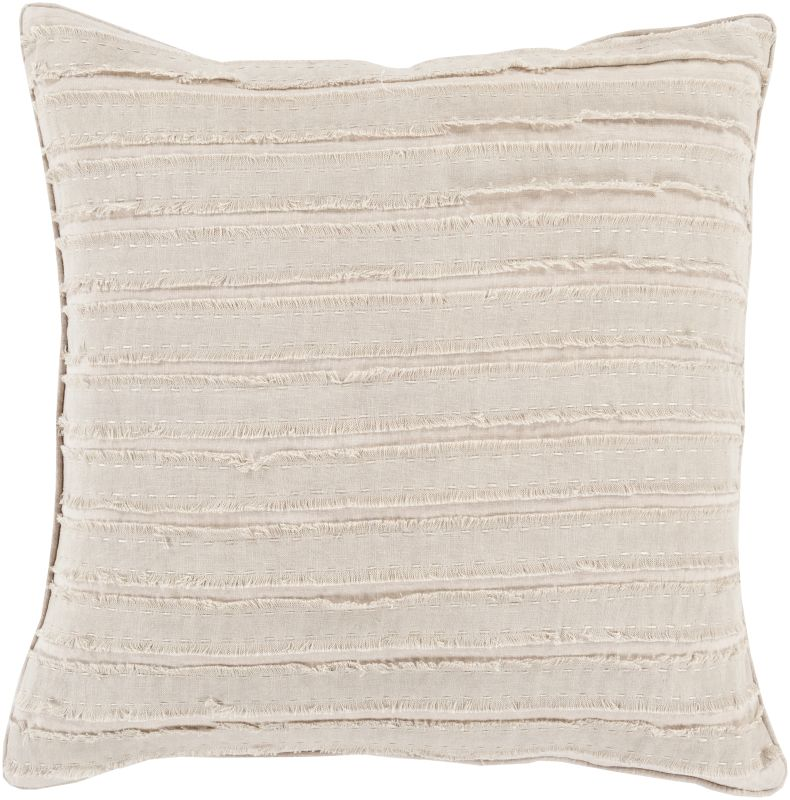 Surya WO-005 Square Indoor Decorative Pillow with Down or Polyester