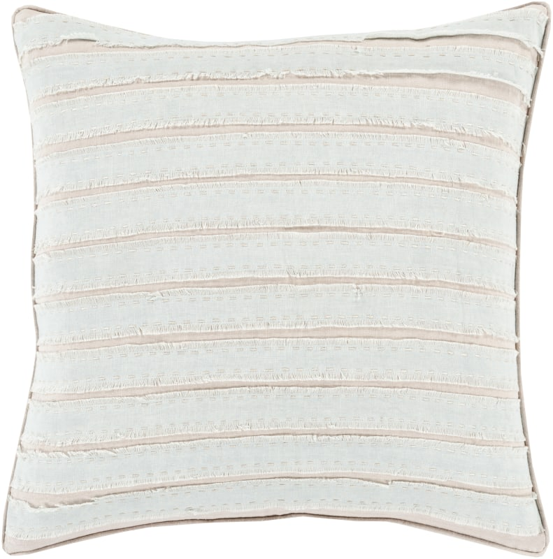 Surya WO-006 Square Indoor Decorative Pillow with Down or Polyester