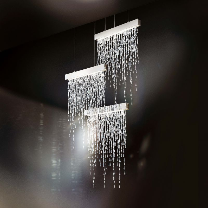 "Swarovski Crystalline Icicles SCR135N Crystalline Icicles 18 Light 44"""