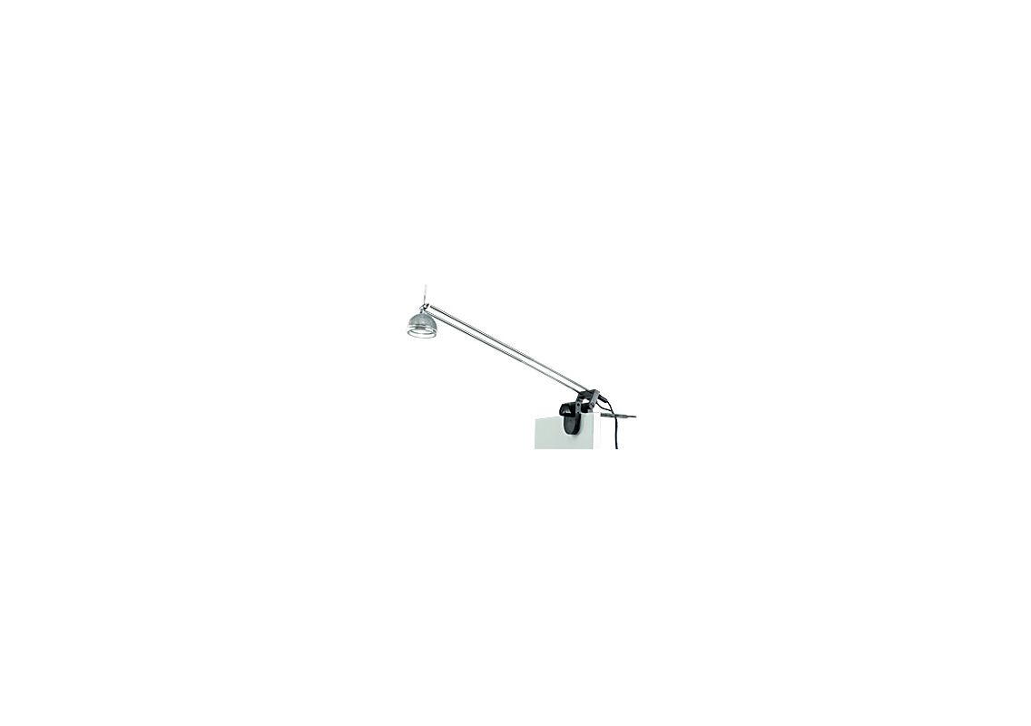 """Tech Lighting 700CP1 50 Watt Clamp-on Light with Universal Clamp Black Sale $72.80 ITEM: bci272678 ID#:700CP1-BK UPC: 756460557881 Features: Lightweight and versatile, CP1 features a universal clamp that provides a secure grip on any surface shape—from 1/2"""" pipe to 4"""" wall Complete with 12 volt plug-in transformer with in-line switch and 10' cord Chrome arms with black or white clamp Specify 50 or 75 watts 12 volt, MR16 lamp not included See accessory for maximum wattage usageLamping Technologies: Bulb Base - GY6.35 - A bi pin or ' bipin socket', the GY6.35 has a pin spread of 6.35 mm and is used mostly with halogen bulbs common for task lighting and landscape lighting. GY6.35 Bulb Base uses primarily a Halogen but is also compatible as LED and Xenon / Krypton.Specifications: Number of Bulbs: 1 Bulb Base: GY6.35 Bulb Included: No Watts Per Bulb: 50 Wattage: 50 Voltage: 120 Energy Star: No :"""