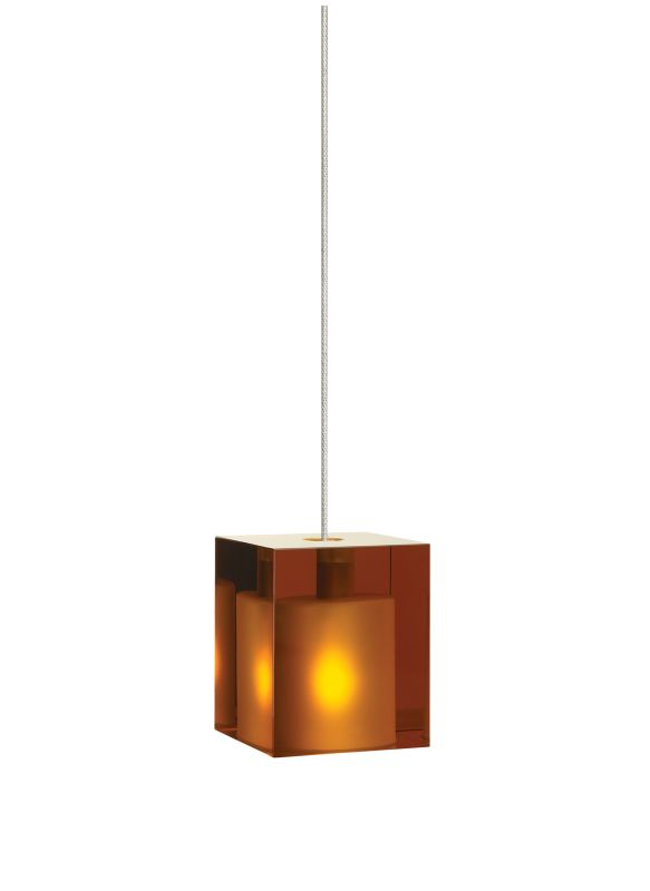 Tech Lighting 700FJCUBA FreeJack Amber Cube Glass Pendant - 12v