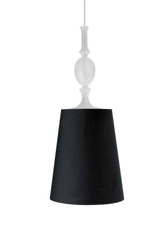 Tech Lighting 700FJKIEBF FreeJack Kiev Black Fabric Shade Pendant with