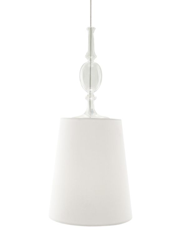 Tech Lighting 700FJKIEWC FreeJack Kiev White Fabric Shade Pendant with