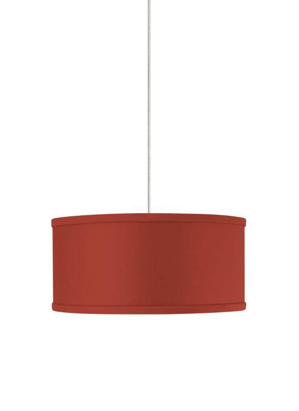 Tech Lighting 700FJMULR FreeJack Mini Mulberry Red Round Fabric Shade