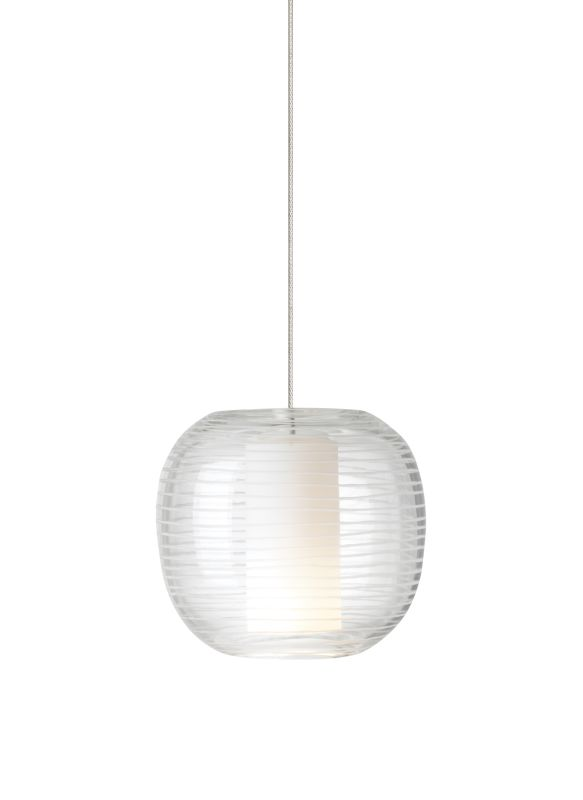 Tech Lighting 700FJOTOC FreeJack Otto Clear Hand-Etched Mouth Blown