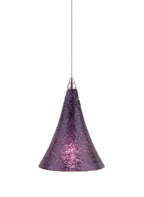 Tech Lighting 700FJSUGV FreeJack Sugar Violet Cone Shaped Glass