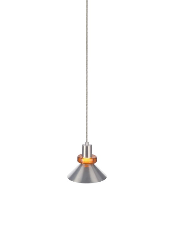 Tech Lighting 700FJWKSA FreeJack Hanging Wok Metal Shade Pendant with