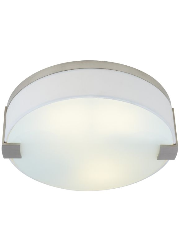 light round flush mount 277v fluorescent white fabric ceiling fixture. Black Bedroom Furniture Sets. Home Design Ideas