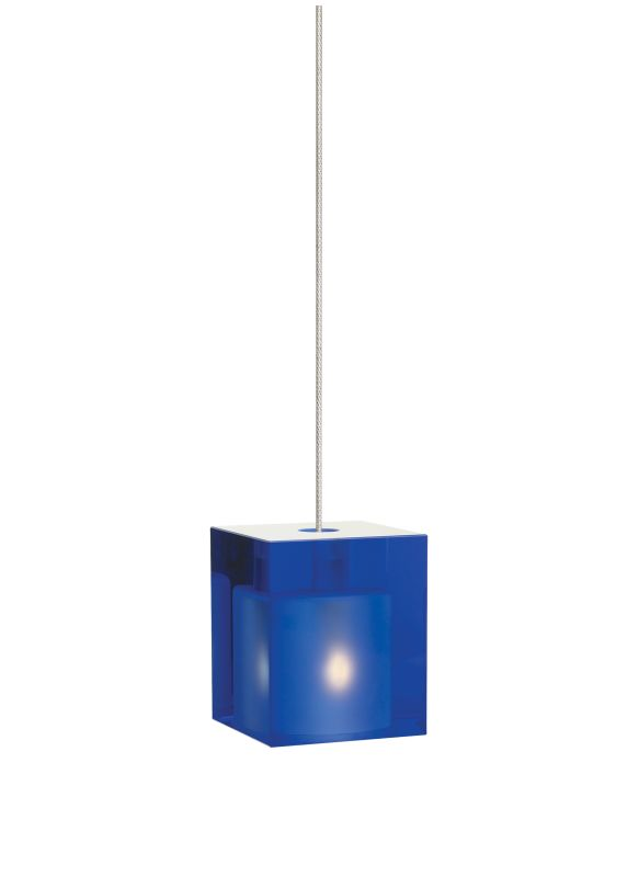 Tech Lighting 700KLCUBC Kable Lite Cobalt Cube Glass Pendant - 12v