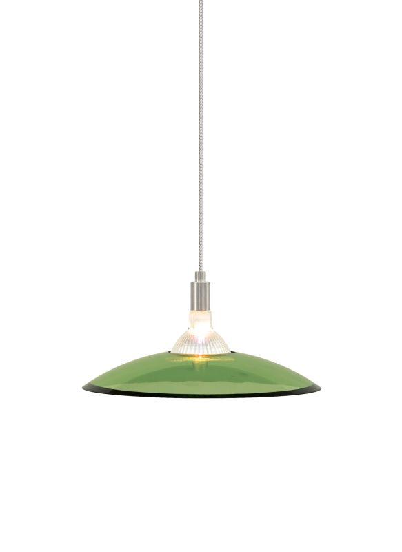 Tech Lighting 700KLDIZV Kable Lite Diz Olive Green Slumped Glass Plate