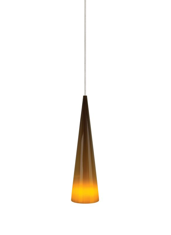 Tech Lighting 700KLPINSN Kable Lite Pinnacle Brown Small Glass Cone