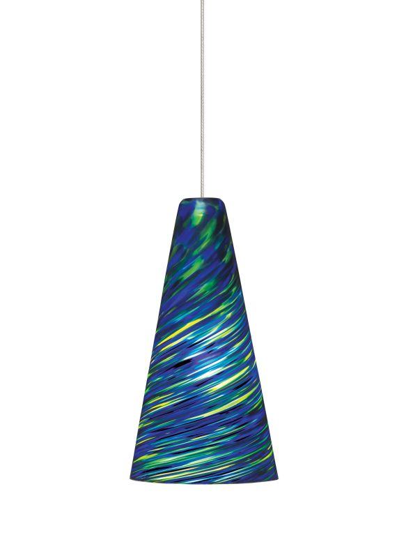 Tech Lighting 700KLTAZB Kable Lite Mini Taza Blue-Green Twisted Blown