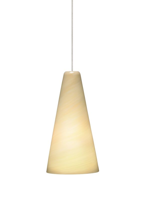 Tech Lighting 700KLTAZC Kable Lite Mini Taza Cream Twisted Blown Glass