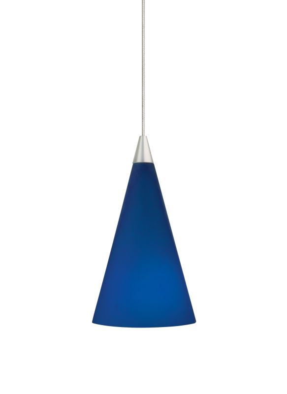 Tech Lighting 700MOCONP MonoRail Cobalt Glass Cone Pendant - 12v