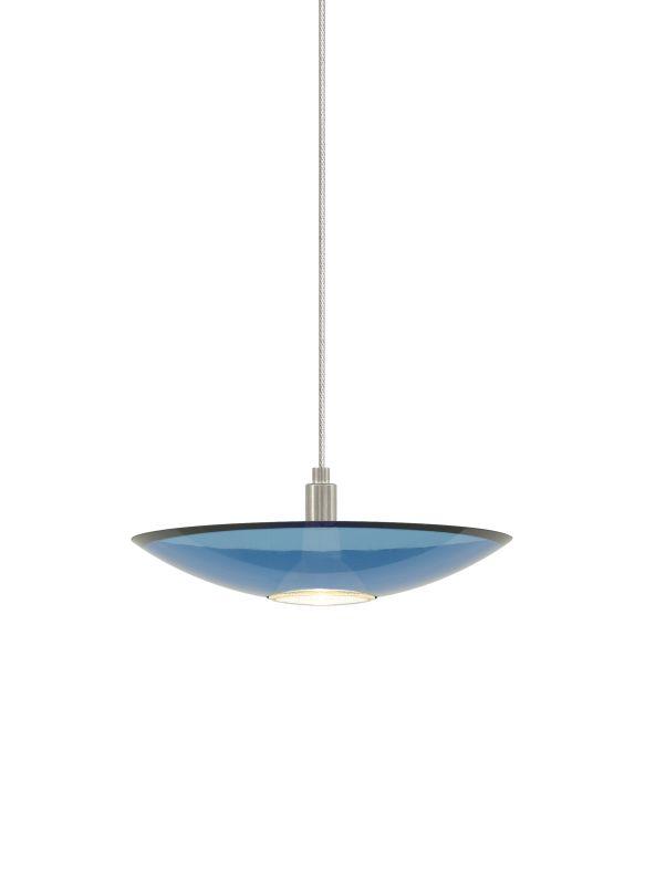 Tech Lighting 700MODIZU MonoRail Diz Steel Blue Slumped Glass Plate