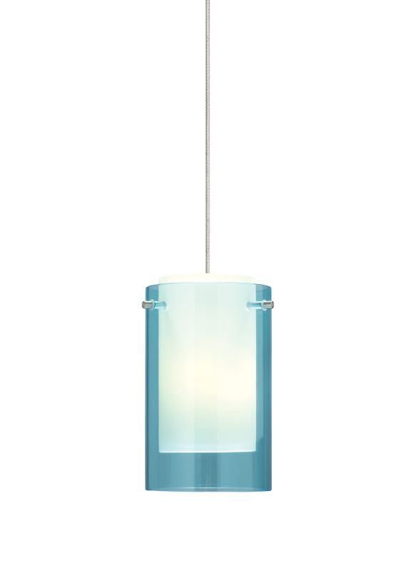 Tech Lighting 700MOECPQ MonoRail Mini Echo Aquamarine Glass